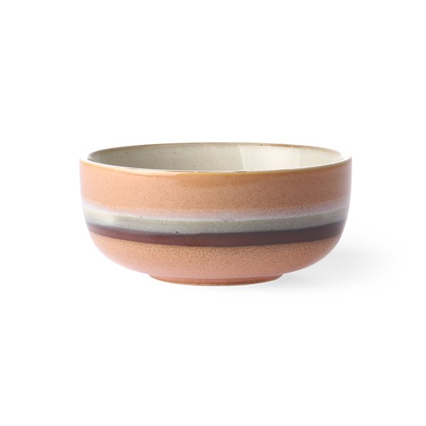 CERAMIC bowl medium tornado 70's