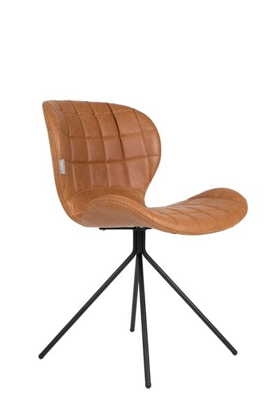 OMG LL brown Leather Look Chair