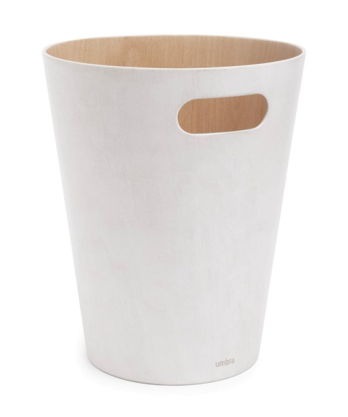 WOODROW CAN white/nature Papierkorb Holz