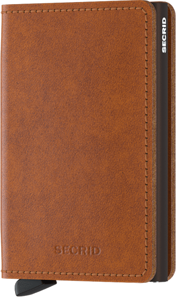 S-ORIGINAL Cognac-Brown Slimwallet