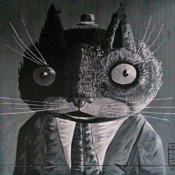 MR. CAT Leinwand 20x20cm