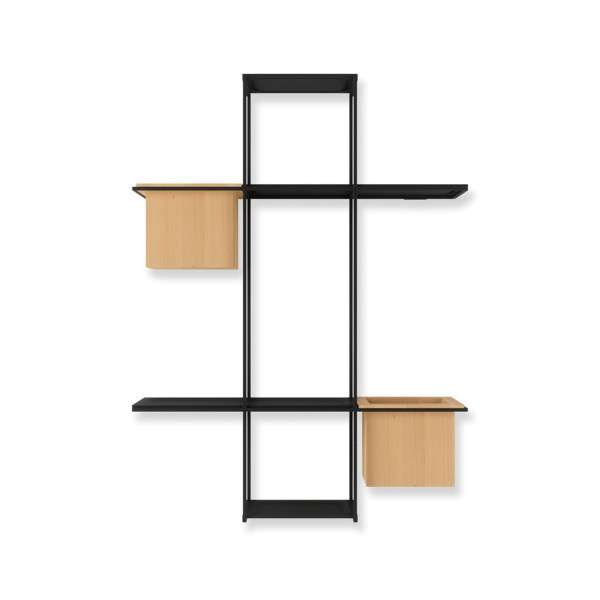 CUBIST multi shelf sand/black 63.5 x 16 x 48 cm