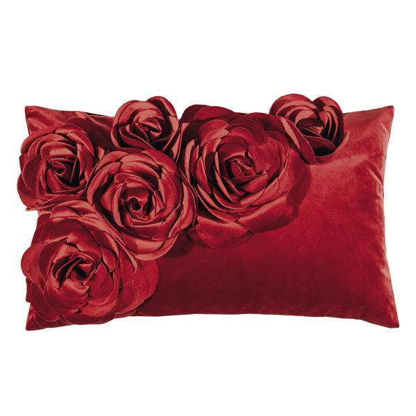 FLORAL red 30x50 cm Cushion Cover
