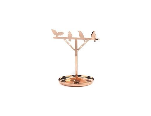 BIRD copper Jewelry Stand