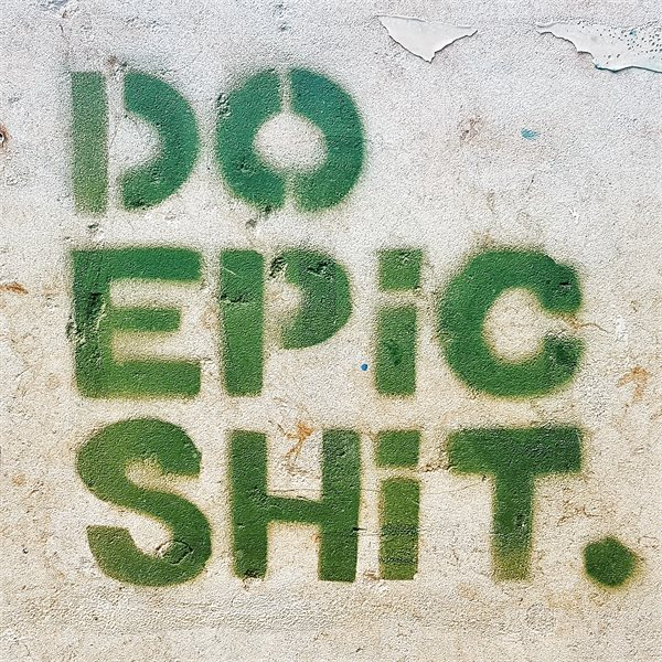 DO EPIC SHIT Leinwand 20x20cm