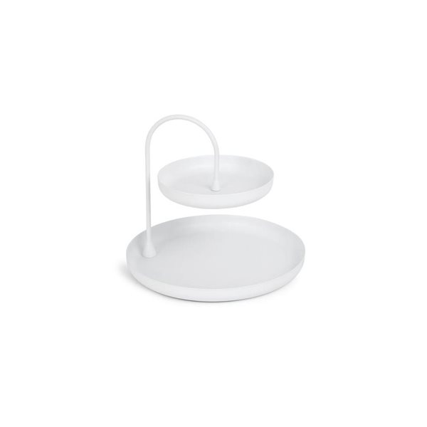 POISE white two tiered Tray