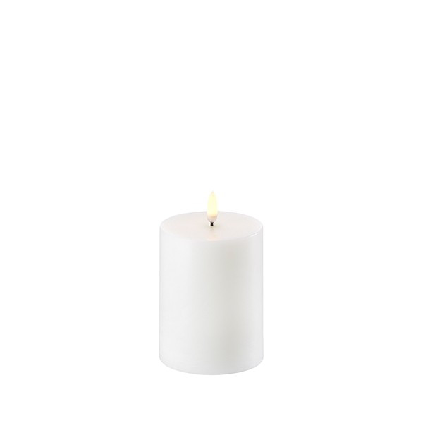 PILLAR CANDLE Ø 7,8cm H=10cm LED Nordic White