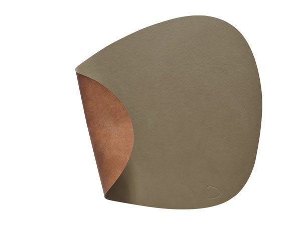 CURVE L Double army green/nature Tablemat 37x44cm