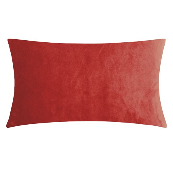 SMOOTH red 25x50 Cushion Cover