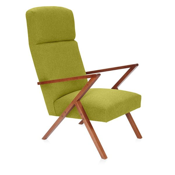 RETROSTAR Lounge-Sessel Basic senfgrün