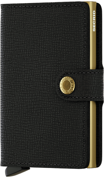 MC-CRISPLE Black-Gold Miniwallet
