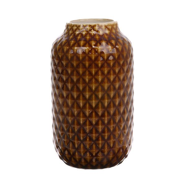 CERAMIC Vase brown glazed