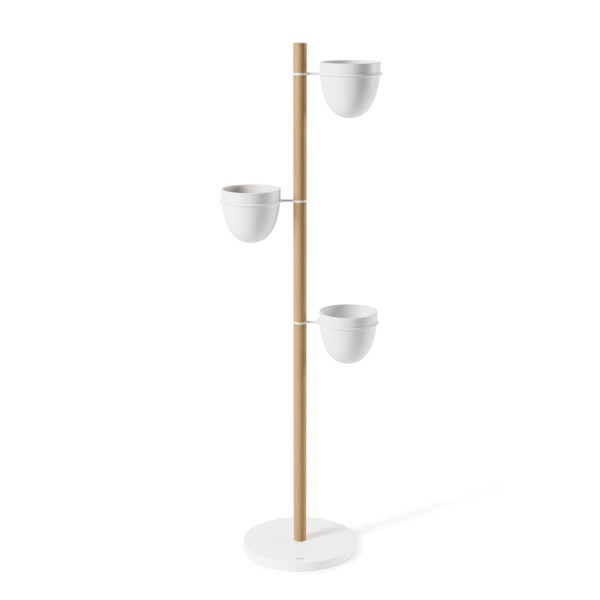 FLORISTAND planter white/naturale
