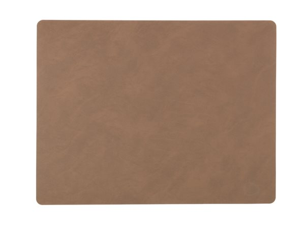 SQUARE L brown Tablemat 37x44cm