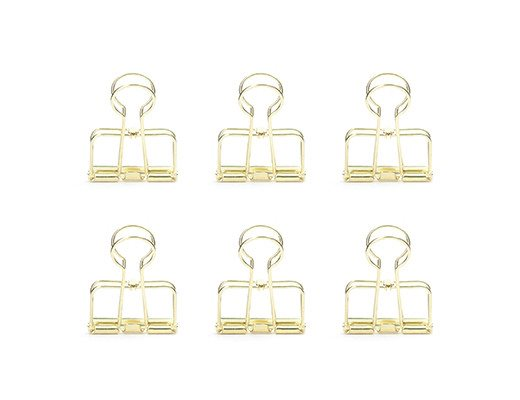 WIRE CLIPS gold Set of 6